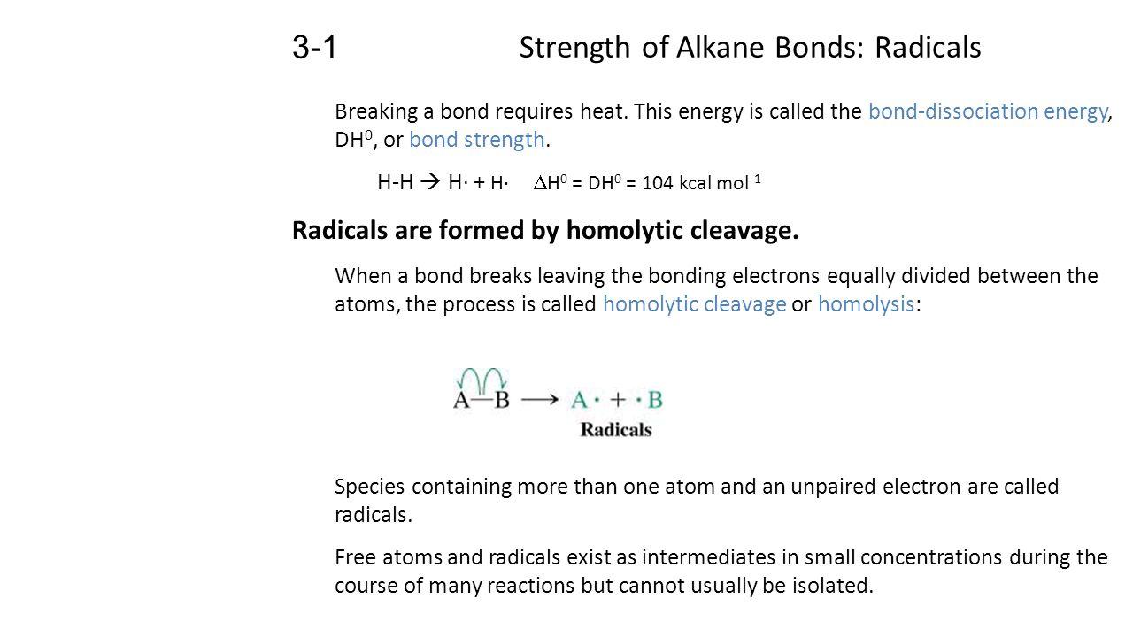 Strength Of Alkane Bonds Radicals Ppt Video Online Download