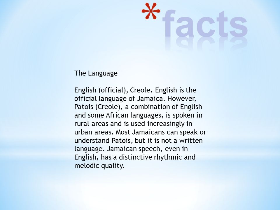 Jamaica By Cerys John Ppt Download - What is the official language of jamaica