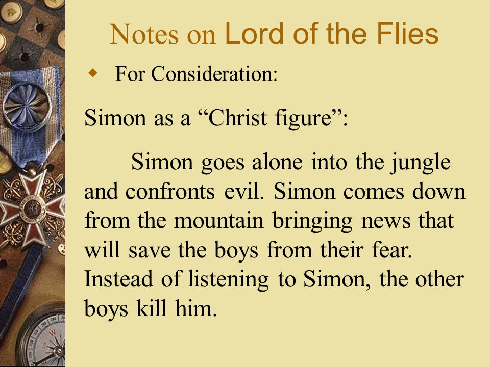 lord of the flies notes Find all available study guides and summaries for lord of the flies by william golding if there is a sparknotes, shmoop, or cliff notes guide, we will have it listed here.