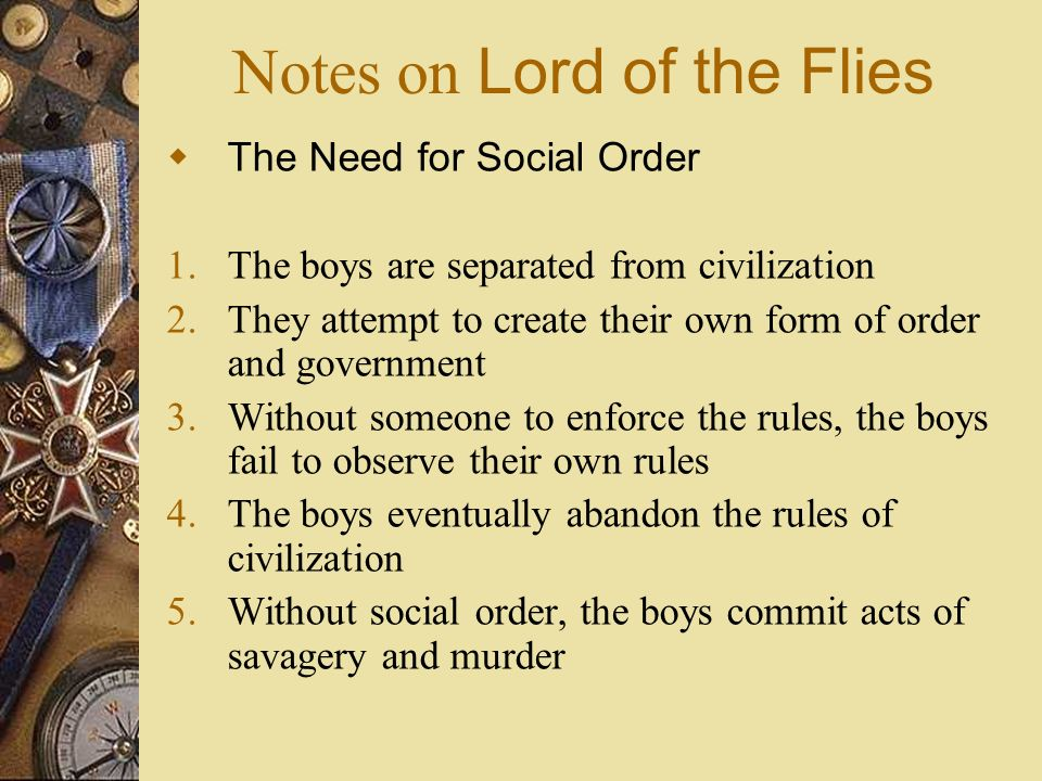 Thesis Statements on Lord of the Flies