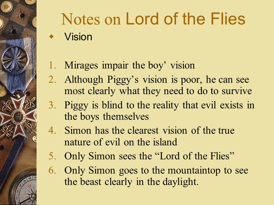 lord of the flies religion notes Christian symbolism in lord of the flies print reference this  he did the best he could (sparknotes) religion essay writing service essays more religion.