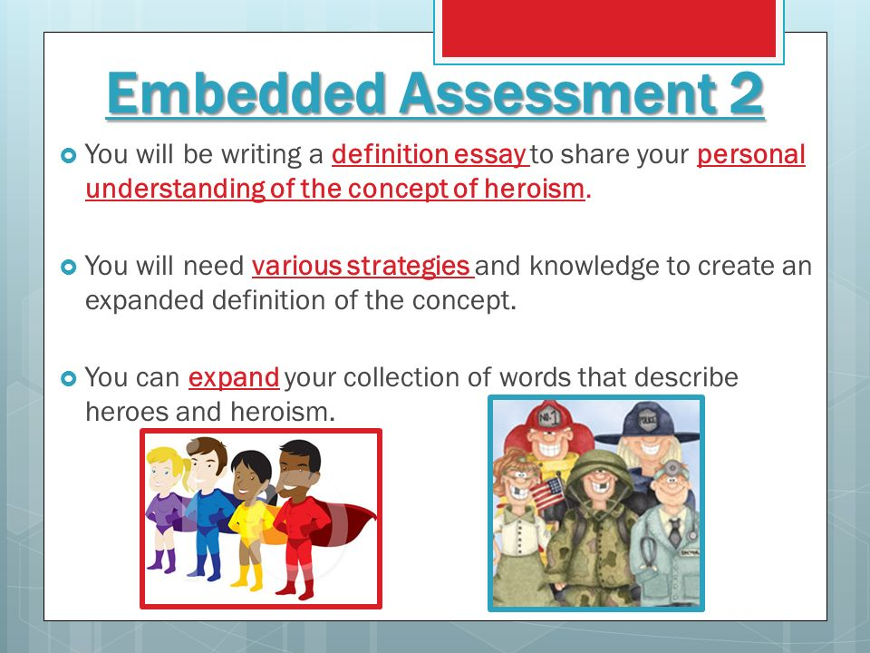 do now make a brainstorm web for the word ldquo hero rdquo ppt video embedded assessment 2 you will be writing a definition essay to share your personal understanding of