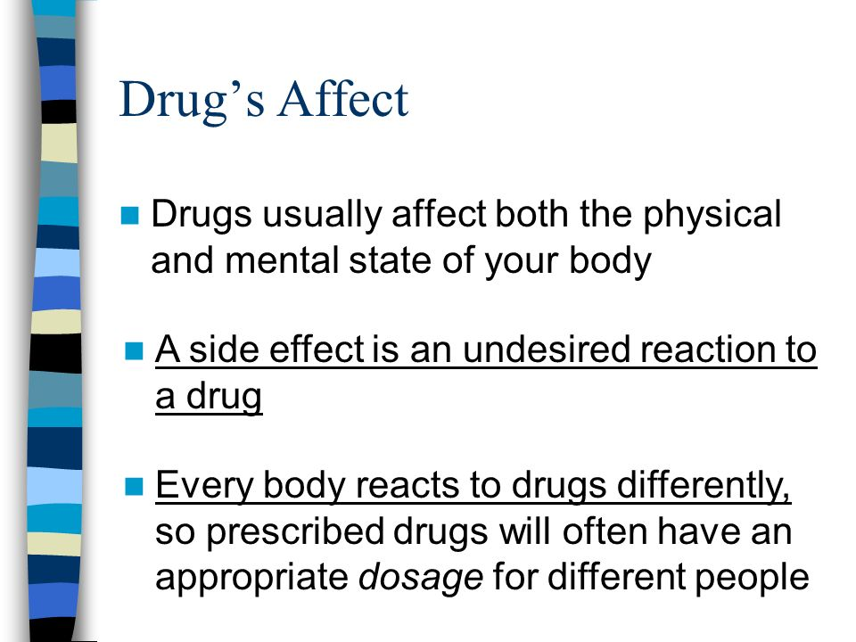 Drugs negative effects