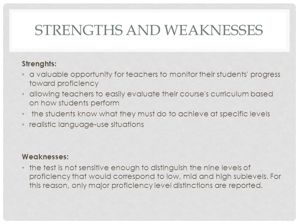 An Employee Self-Evaluation of Strengths & Weaknesses