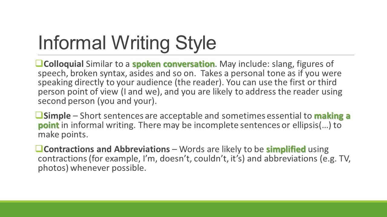 writing style examples