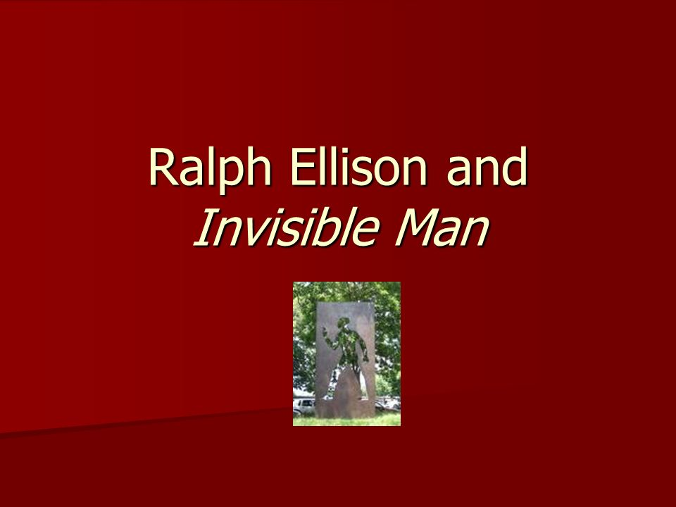 an analysis of the main character in invisible man by ralph ellison In the invisible man, by ralph ellison, ellison explores death as a recurrent theme in several unusual waysnot only do we, the readers, observe physical deaths of characters throughout the novel, but we also see many symbolic deaths through the progression our main character on his quest for an identity.