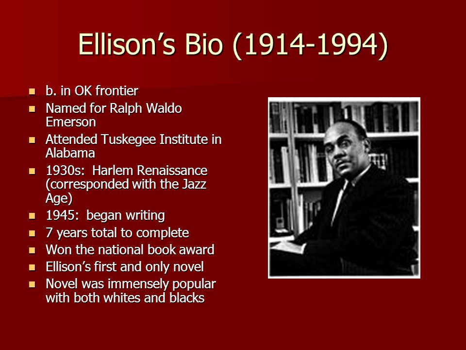 Ralph ellison themes writing a resume