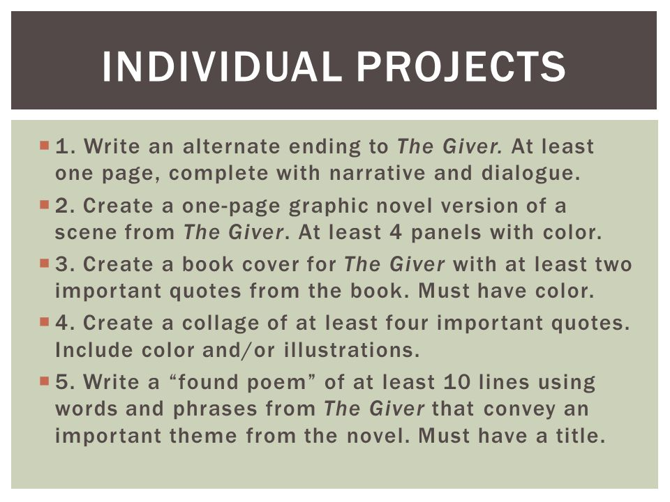 the giver dialogue Get an answer for 'what are life lessons in the giver' and find homework help for other the giver questions at enotes.