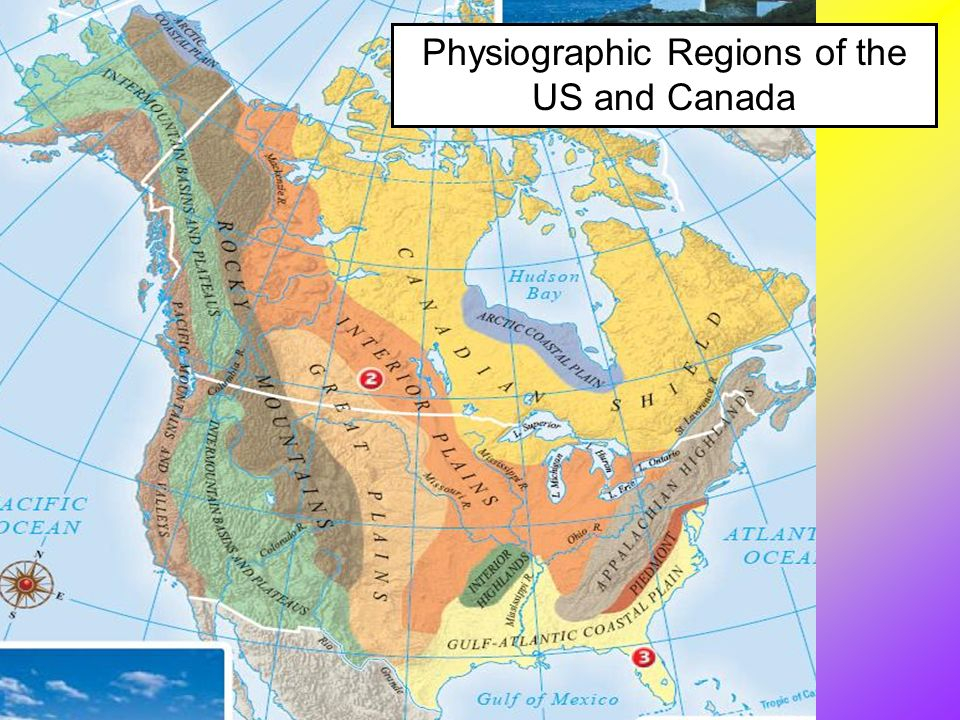 What Geographic Features Does Canada And The United States Share - Map of us and canada