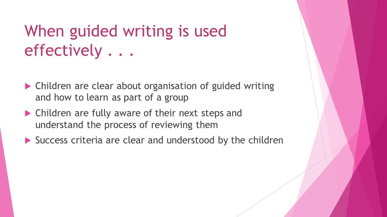 """guided writing Richardson, j, """"the next step in guided writing,"""" ohio literacy conference, 2010 janrich2@gmailcom 1 procedures and expectations for guided writing."""
