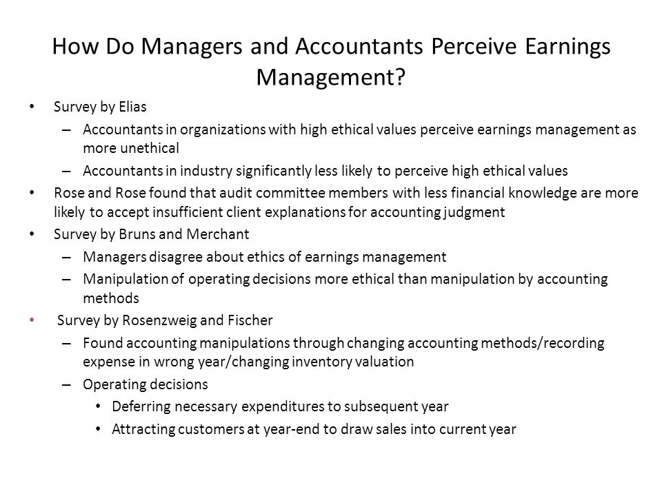 ethics in corporate finance earnings management Corporate social responsibility and insider trading  finance + banking management + führung  is earnings quality associated with corporate.