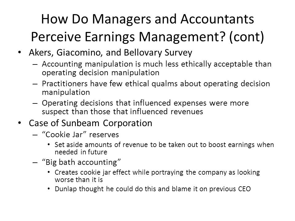 sunbeam and revenue recognition Integrating fraud education into the financial accounting course  [sunbeam corp reduced allowance by 64% despite a 19% increase in sales]  revenue recognition.