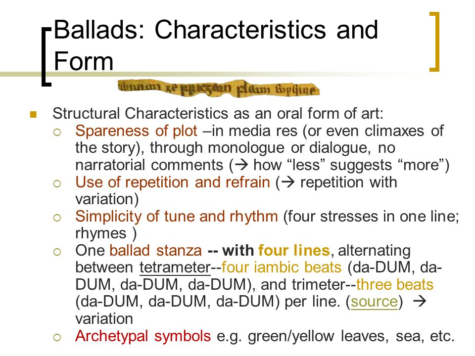 Characteristics Of Line In Art : Medieval lyrics and ballads behind their apparent