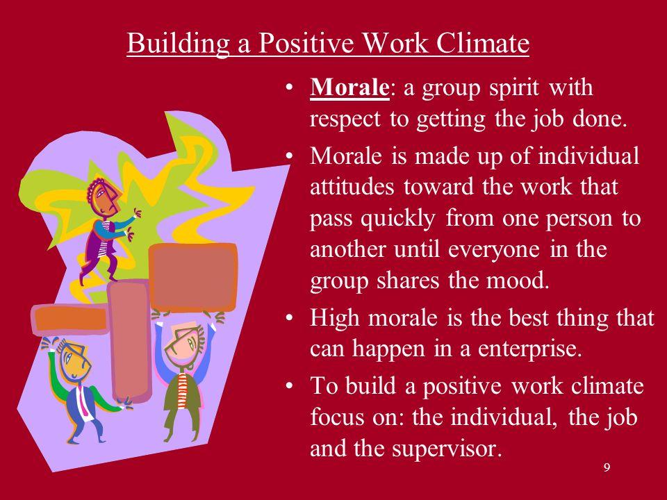 Building a Positive Work Climate