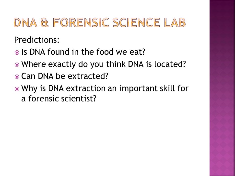 forensic science lab questions The forensic q and a page is a knowledge sharing resource where anybody can ask or answer a question relating to the fascinating world of forensic science.