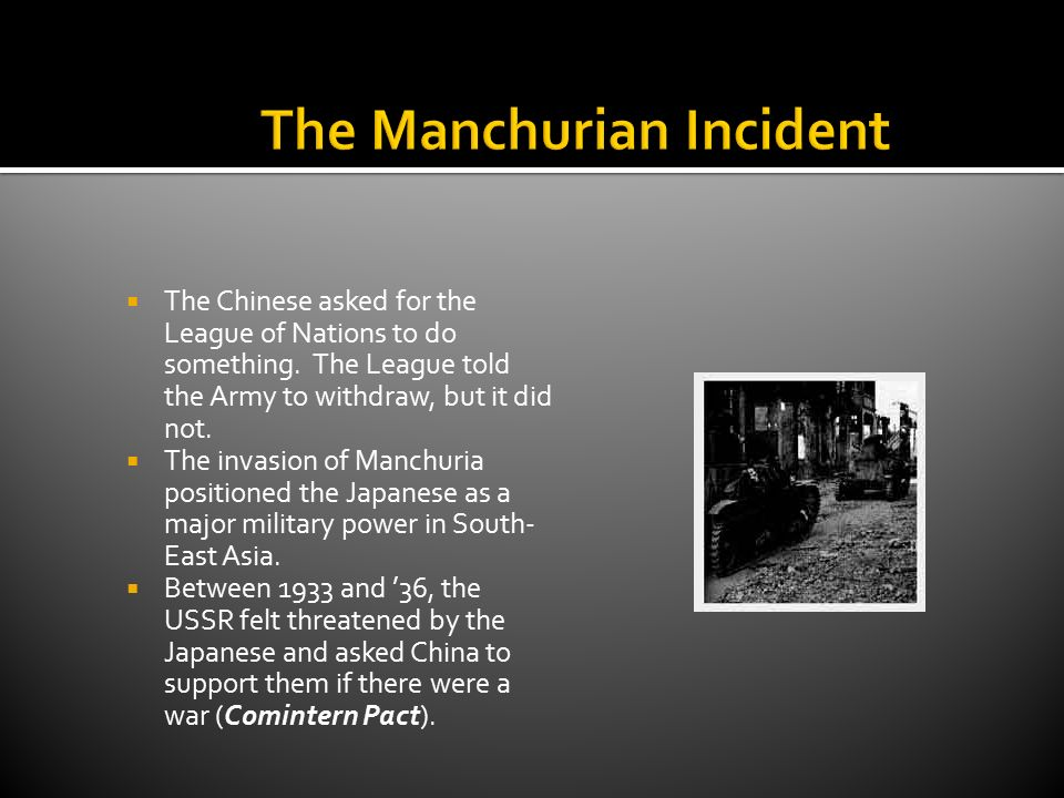 What Was The Manchurian Incident?