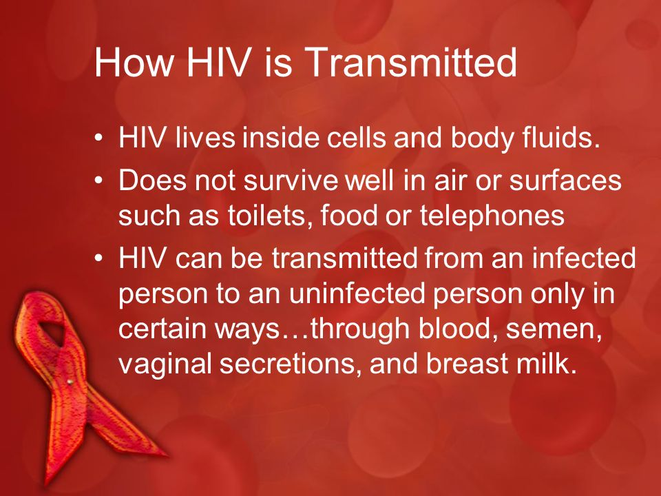 how does hiv transmitted sexually