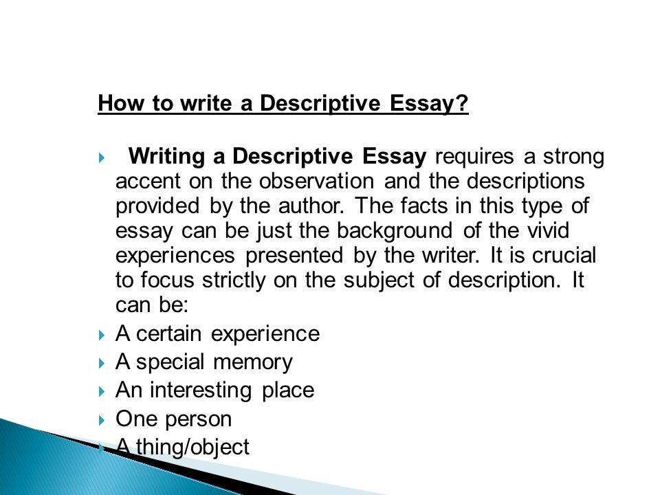 Describing a syringe in descriptive essay