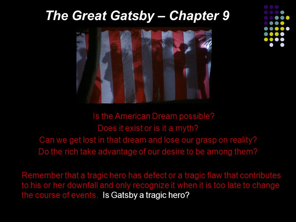 is the great gatsby a tragedy Free essay: jay gatsby as tragic hero of fitzgerald's the great gatsby according to aristotle, there are a number of characteristics that identify a tragic.