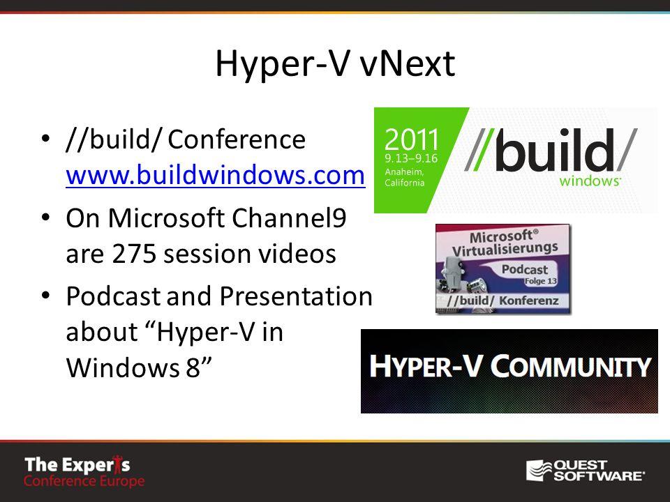 Hyper-V vNext //build/ Conference www.buildwindows.com