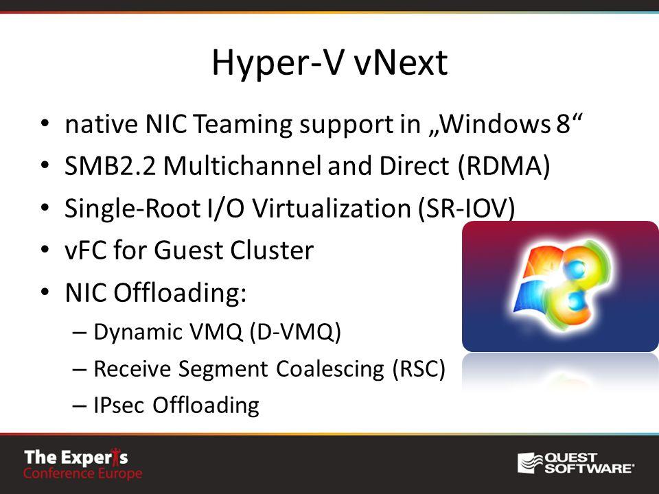 "Hyper-V vNext native NIC Teaming support in ""Windows 8"