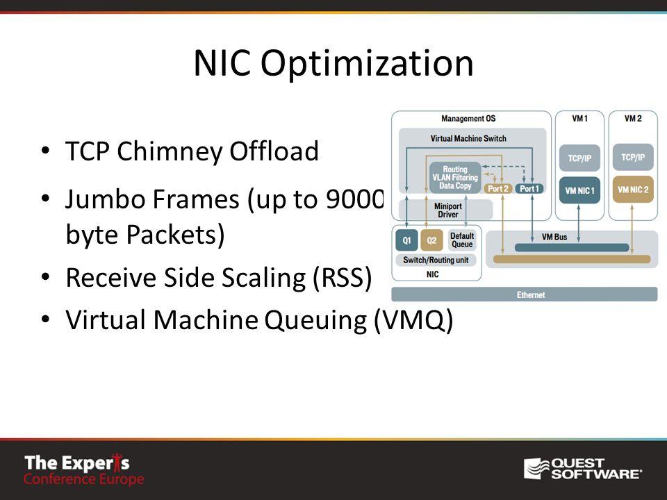 NIC Optimization TCP Chimney Offload