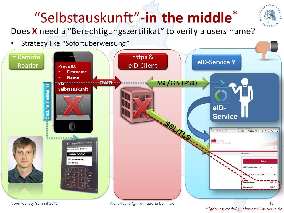 Selbstauskunft -in the middle*