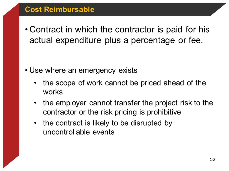 Infrastructure delivery management toolkit ppt download for Cost plus contract example