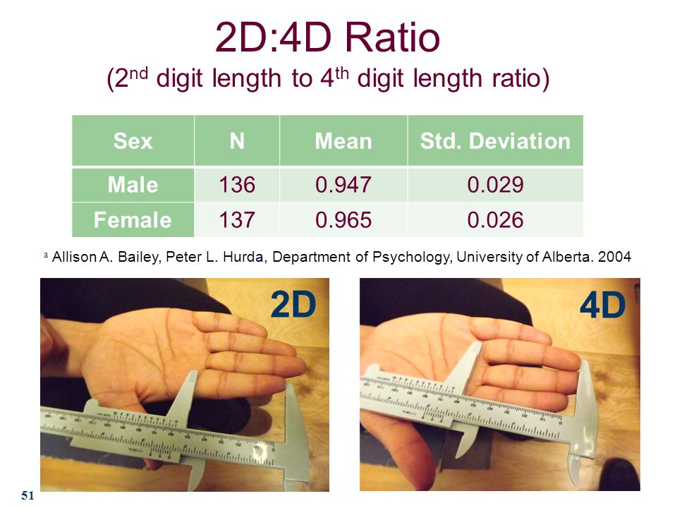 digit ratio sex differences