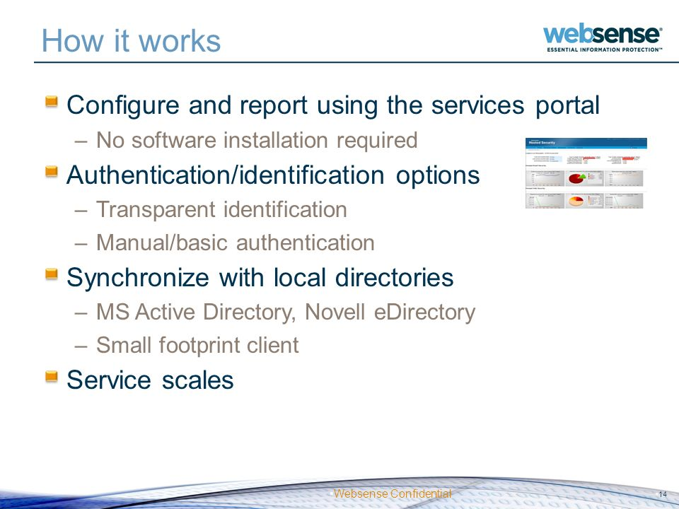 How it works Configure and report using the services portal