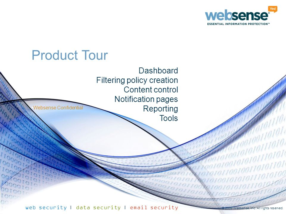 Product Tour Dashboard Filtering policy creation Content control