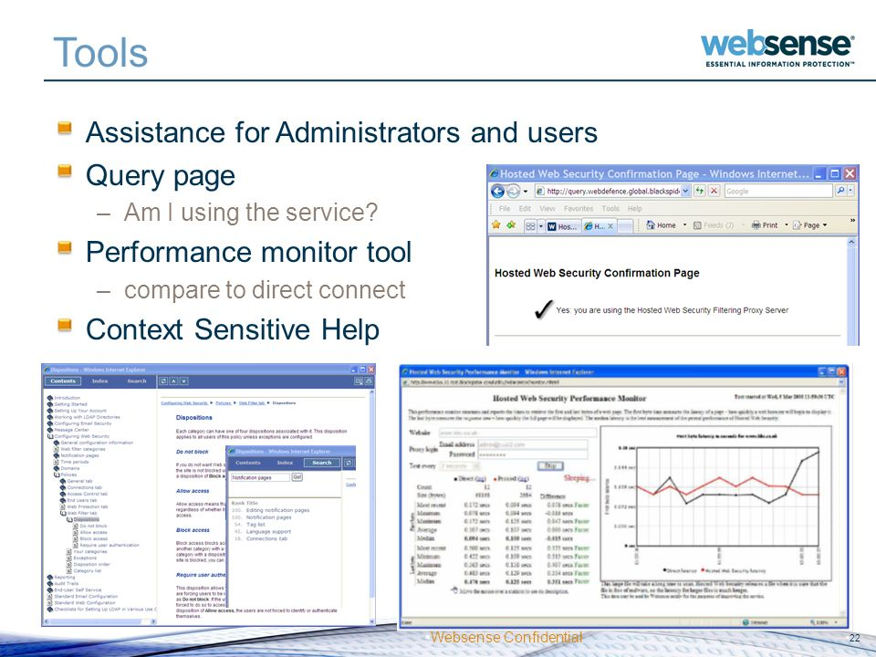 Tools Assistance for Administrators and users Query page