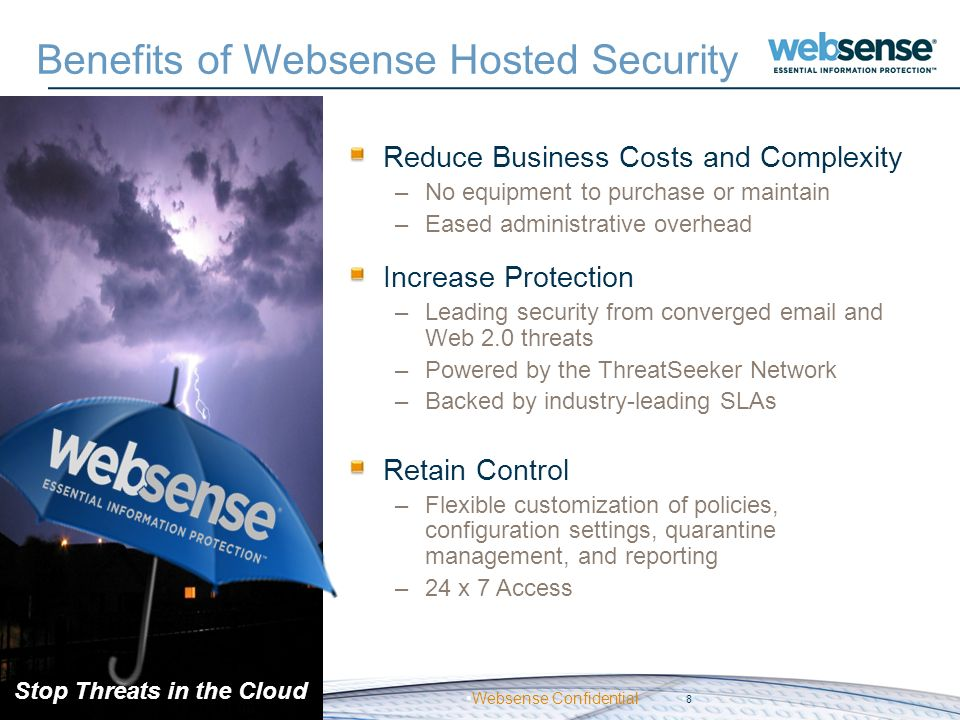 Benefits of Websense Hosted Security