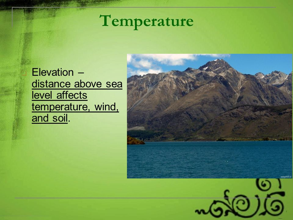 Abiotic Factors Chapter Section Notes Ppt Video Online - Distance above sea level