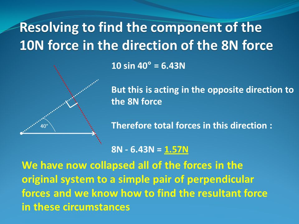 resolving forces in different directions relationship