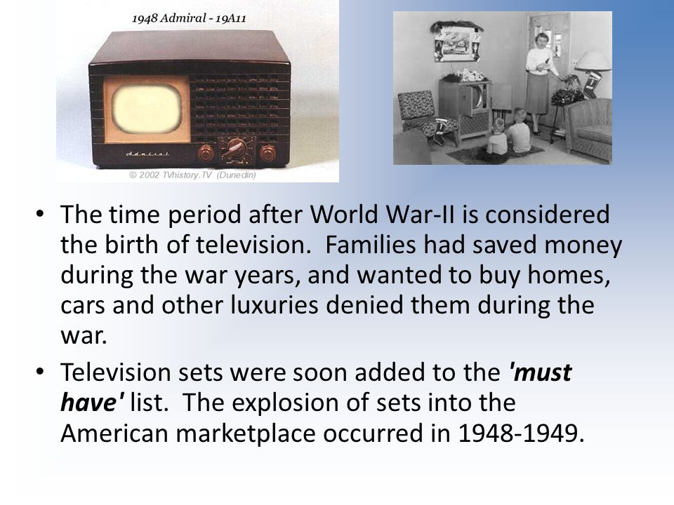 History of Television Part 1 - ppt video online download