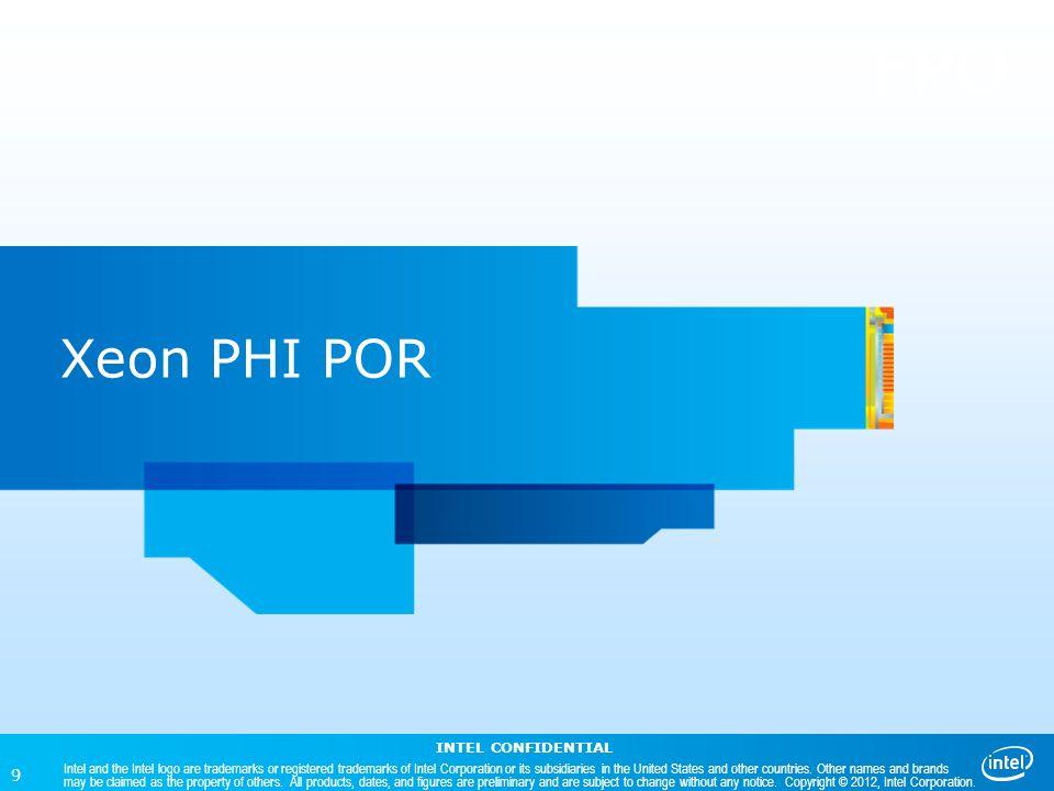 FPO Xeon PHI POR