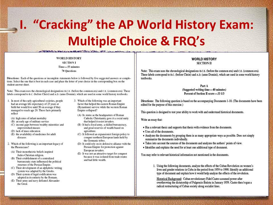 Past ap world history exam essay questions