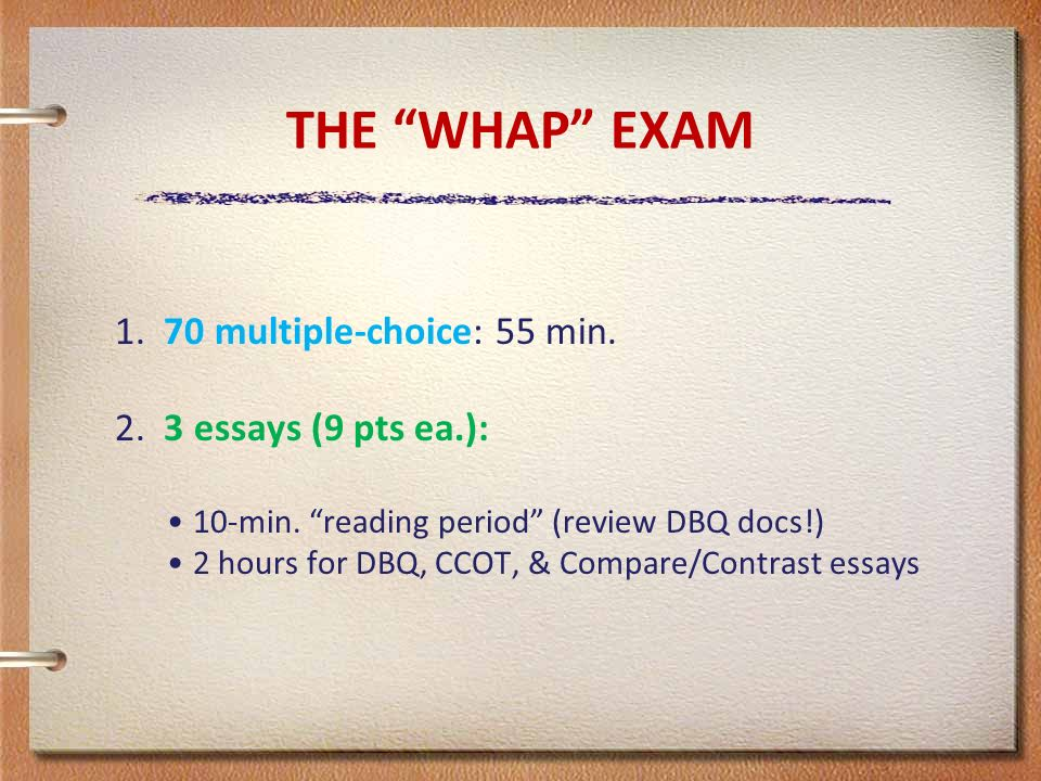 released ap world history exam essays The ap world history exam takes 3 hours and 15 minutes to complete and is  of  two sections: a multiple choice and short answer section and an essay section.