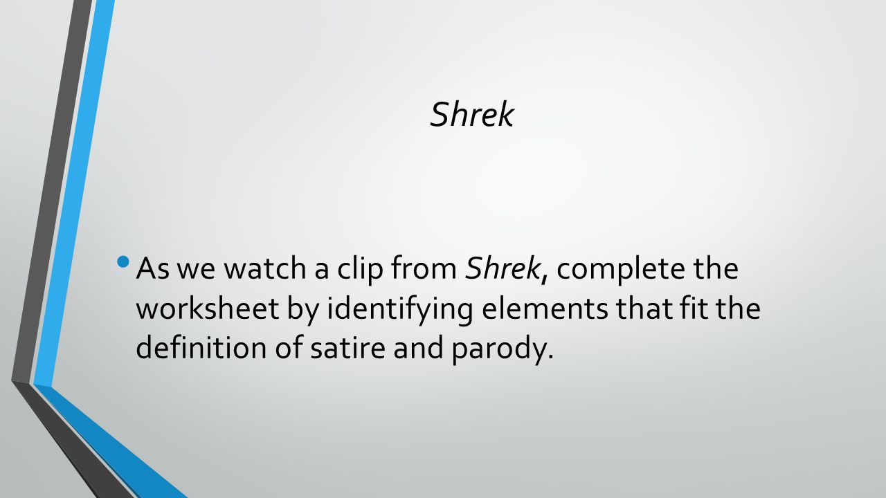 Objective To understand and identify satire and parody ppt download – Satire Worksheet