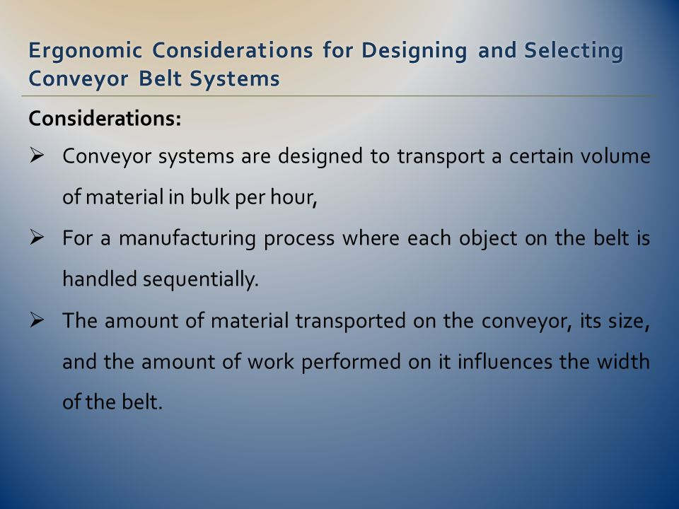 conveyor belt manufacturing process pdf