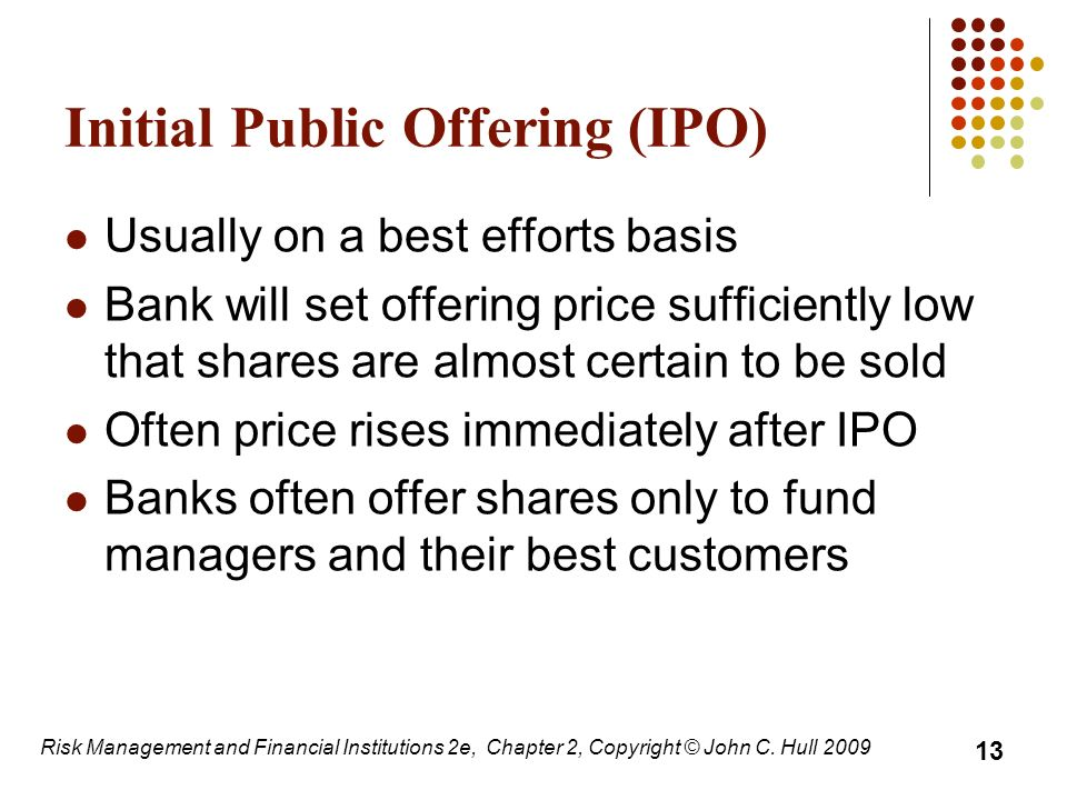 risks and returns of initial public offerings ipos Keywords: initial public offerings, disclosure, litigation, securities underwriting  abstract:  (initial return) is the market's price adjustment from p_{ipo} to p_{mkt }.