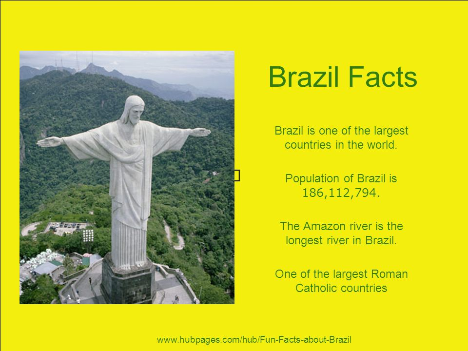 Our visit to brazil brazil is situated in the north east for Good facts about america