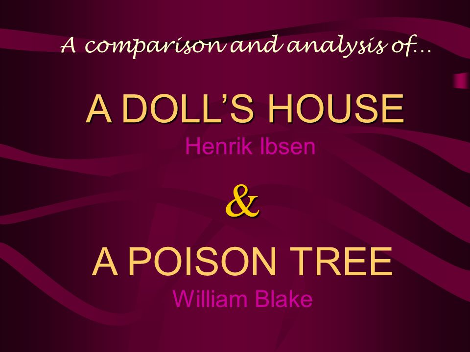 an analysis of henrik helmerss play a doll house