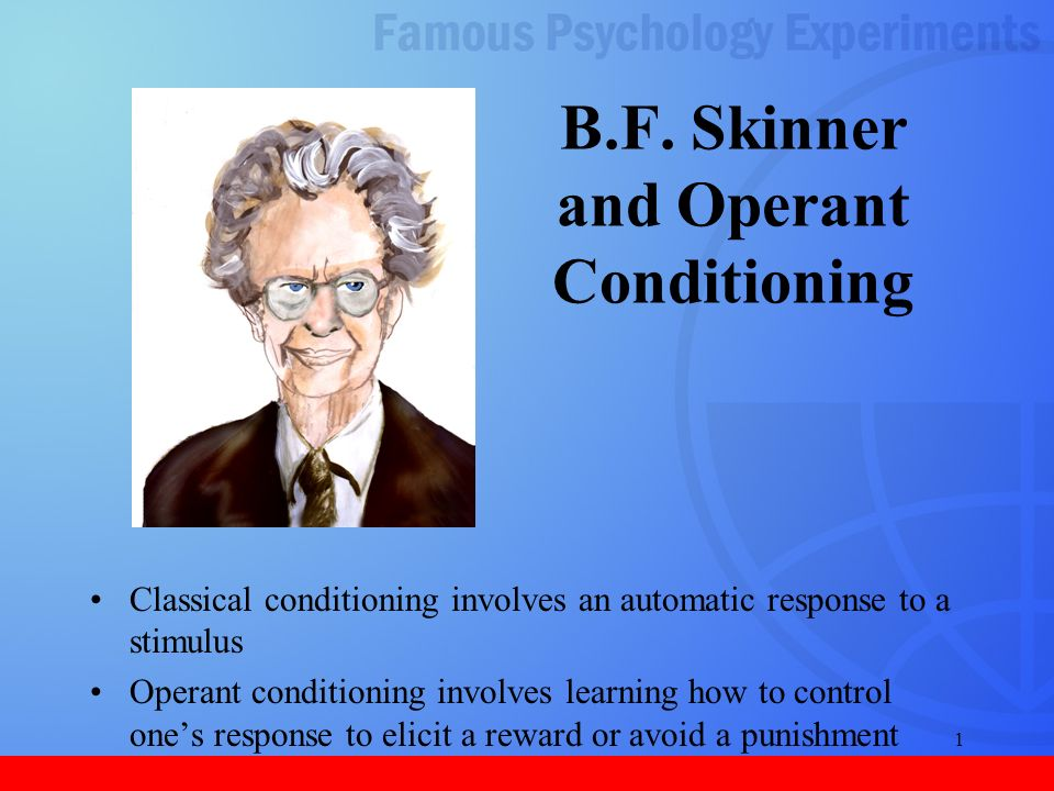 bf skinner classical conditioning