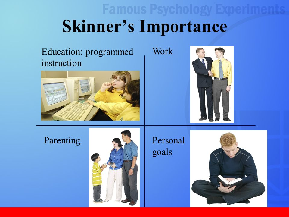 b f skinner importance The limits of behaviorism: a review essay on b f skinner's social and   skinner's, important technical works include verbal behavior (new.