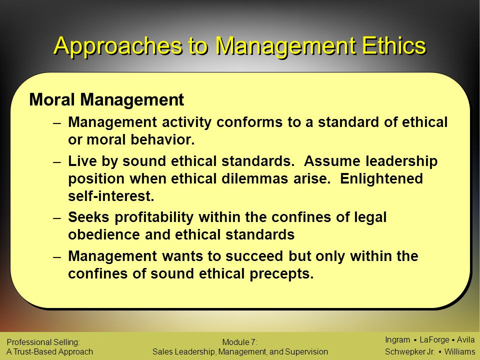 legal and ethical leadership management Leaders set the pace and tone for department policy and ethical  development  of ethical leaders in law enforcement organizations is an.