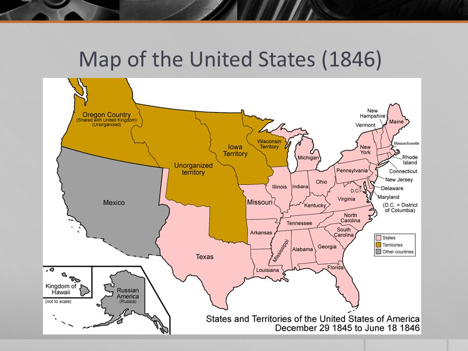 Westward Expansion And The Issue Of Slavery Ppt Download - Us map 1846