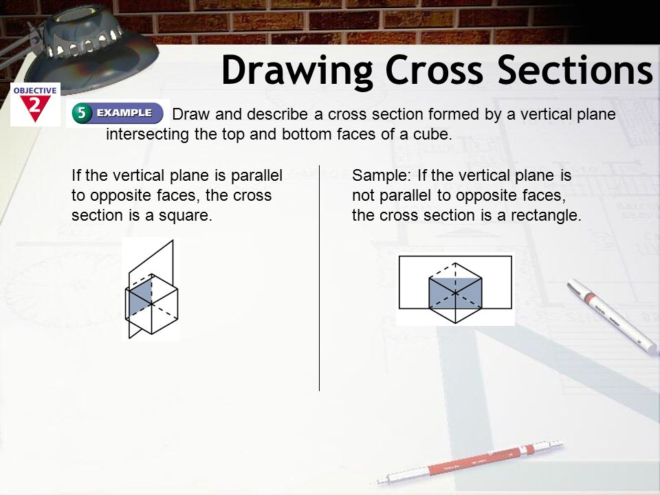 intersecting planes cube. 10 drawing cross sections intersecting planes cube
