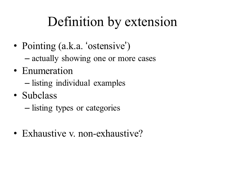 Perfect Definition By Extension